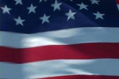 American Flag pan Stock Footage