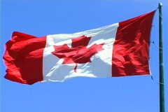 Canadian Flag 2 Stock Footage