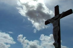 Cross & Clouds time lapse Stock Footage