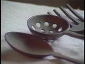 Antique utensils Stock Footage