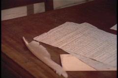 Log cabin letter Stock Footage