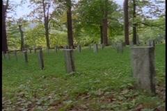 Civil war cemetary 1 Stock Footage