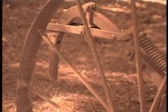 Old farm equipment  Stock Footage