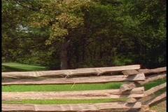 Split rail fence Stock Footage