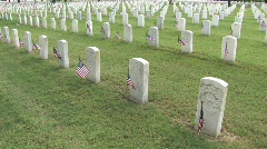 Memorial Day Vet Cem flags zoom in tilt M HD 01 - stock footage