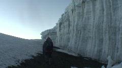 Snow at Uhuru's Peak, East Africa 02 - stock footage