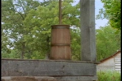 Antique Butter Churn Stock Footage