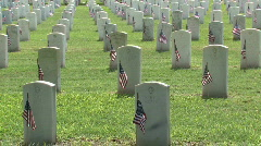 Veteran Cemetery flags M HD Stock Footage