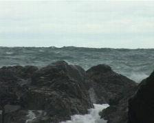 Rocks splash Stock Footage