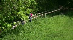 Germany Bavaria Andechs Monastery trail Stock Footage
