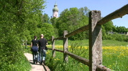 Stock Video Footage of Germany Bavaria Andechs Monastery trail