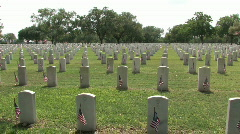 Veteran Cemetery wide view San Antonio Texas M HD - stock footage