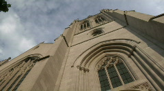 Cleveland, Ohio: Timelapse of Amasa Stone Church Stock Footage
