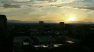 Denver Sunset Stock Footage