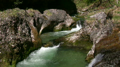 Rough river, Weissbachschlucht, Bavaria, Germany Stock Footage