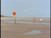 Beach at low tide Stock Footage