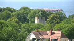 Stock Video Footage of Old medieval ruin in the city of Visby ob the island Gotland