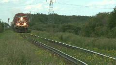 Country Train 1 Stock Footage