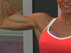 Pretty Brunette at the Gym 06 Stock Footage