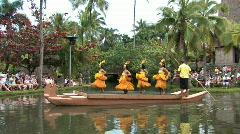 Hawaii Tahiti dancers canoe Hawaii M HD Stock Footage