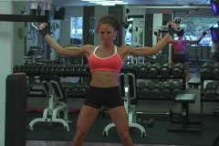 Pretty Brunette at the Gym 09 Stock Footage