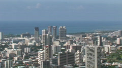 Honolulu City pan left M HD Stock Footage