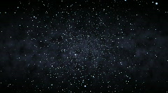 Flying Through a Starfield (24fps) Stock Footage