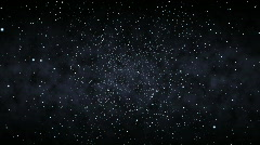 Flying Through a Starfield (30fps) Stock Footage