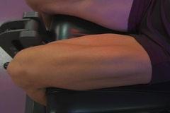 Muscular Female Legs 3 Stock Footage