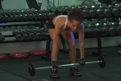 Pretty Brunette at the Gym 22 Stock Footage