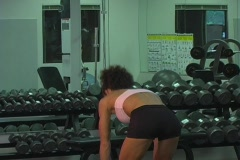 Pretty Brunette at the Gym 24 Stock Footage