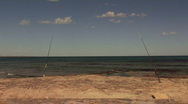 Two fishing rods Stock Footage