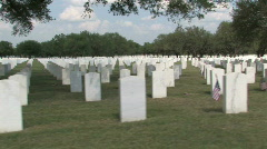 Veteran cemetery driving by M HD Stock Footage