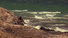 Waves at the rocky coast Stock Footage