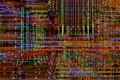 PCB infinite zoom Stock Footage