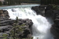 Athabasca Falls MS summer Stock Footage