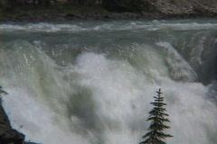 Athabasca Falls CU Tilt summer Stock Footage