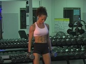 Stock Video Footage of Pretty Brunette at the Gym 27