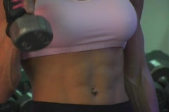 Pretty Brunette at the Gym 28 Stock Footage