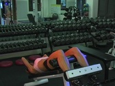 Pretty Brunette at the Gym 34 Stock Footage