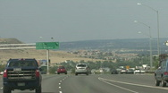 A View From A Interstate Stock Footage