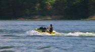Stock Video Footage of Jet Ski Jumps On Lake 02