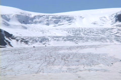 Athabasca Glacier CU summer Stock Footage
