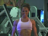 Stock Video Footage of Pretty Brunette at the Gym 42