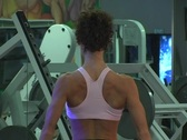 Stock Video Footage of Pretty Brunette at the Gym 43