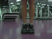 Stock Video Footage of Pretty Brunette at the Gym 45