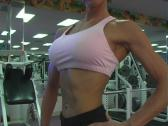 Stock Video Footage of Pretty Brunette at the Gym 47