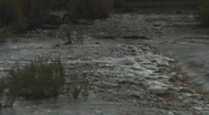 Stock Video Footage of Rushing water and plastic bottles