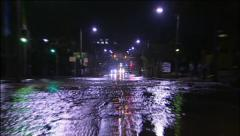 City Road Flooding Stock Footage