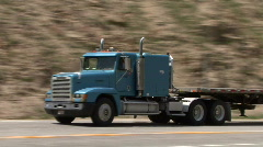 Big Rig In The Rockeis Stock Footage